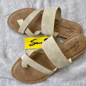 SEVEN7 MALDIVES BONE RING TOE SANDALS SZ 9 NWT